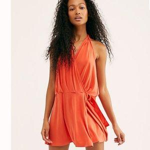 Free People Halter Mini Dress